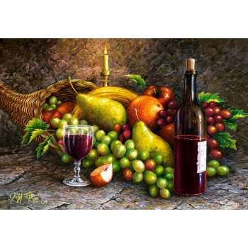Puzzle 1000 Fruit and Wine CASTOR