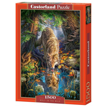 Puzzle 1500 Wolf in the wild CASTOR
