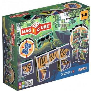 Geomag Magicube Jungle Animals + Cards 9 el.