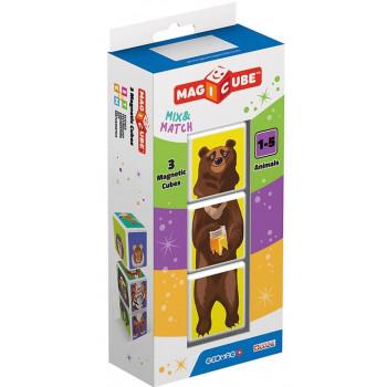 Geomag Magicube Animals Mix & Match 3 el.
