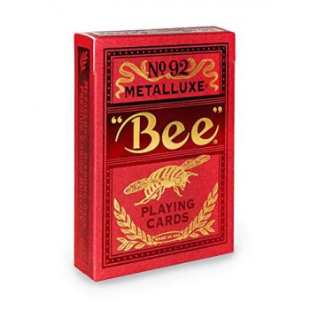 Karty Bee Metalluxe czerwone BICYCLE