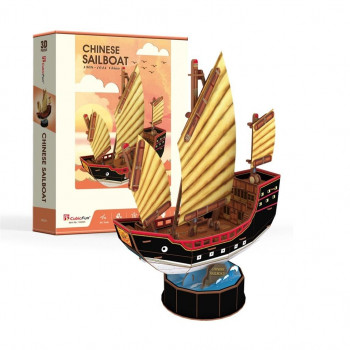 Puzzle 3D Żaglowiec Chinese Sailboat