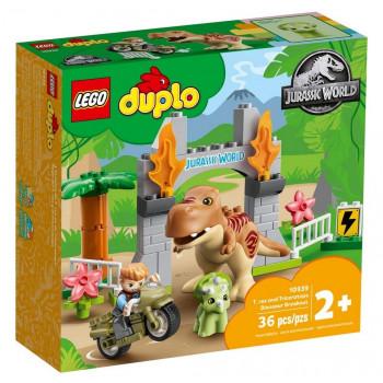 Lego DUPLO Ucieczka tyranozaura i triceratopsa