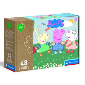 Puzzle 3x48 Play For Future Peppa Pig