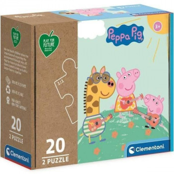 Puzzle 2x20 Play For Future Peppa Pig