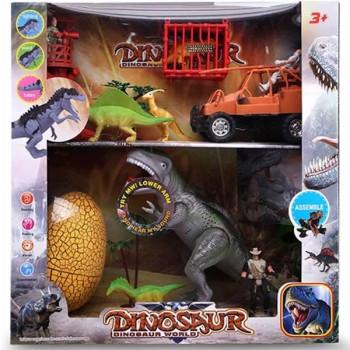 Zestaw dinozaurów z dźwiękiem i światłem