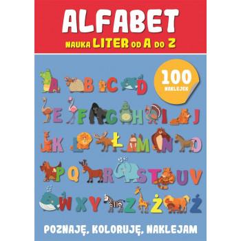 Poznaję, koloruję, naklejam - Alfabet