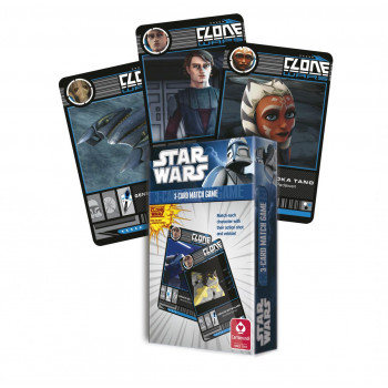 Star Wars - Gra Tercet - Wojny Klonów Cartamundi