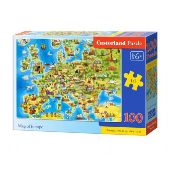 Puzzle 100 Map of Europe CASTOR
