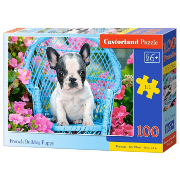 Puzzle 100 French Bulldog Puppy CASTOR