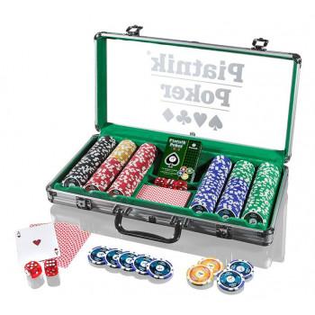 Piatnik Poker Alu-Case - 300 żetonów 14g PIATNIK