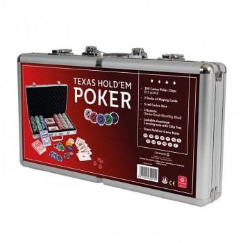 Zestaw do pokera 300 żetonów aluminiowy CARTAMUNDI