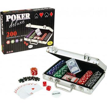 Poker Deluxe 200 żetonów ALBI