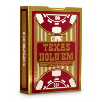 Karty Texas Hold'em Jumbo złoty/czerwony CARTAMUND