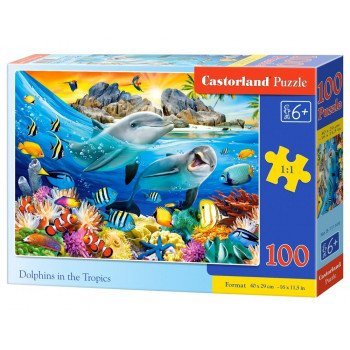 Puzzle 100 Dolphins in the Tropics CASTOR