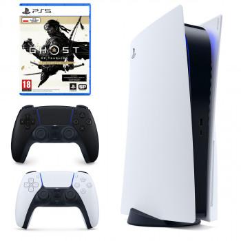 PS5 PLAYSTATION 5 2X PAD DUAL SENSE GHOST THUSHIMA