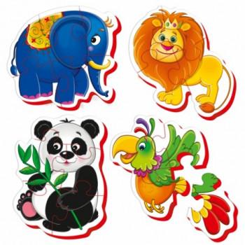Puzzle Piankowe Baby Zoo