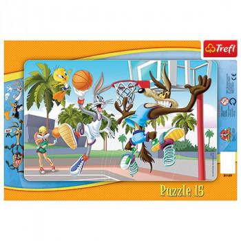 Mecz Koszykówki Puzzle...