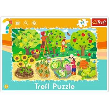 Puzzle Ramkowe 15 El. Ogród...