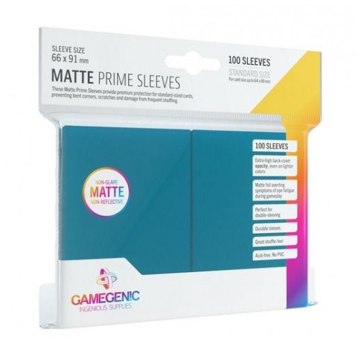 Gamegenic: Matte Prime CCG Sleeves 66x91mm Blue