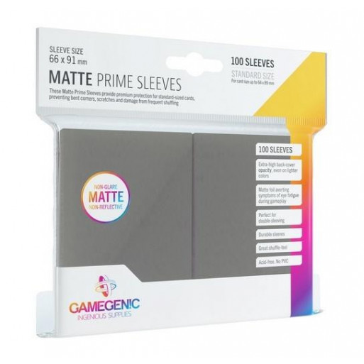 Gamegenic: Matte Prime CCG Sleeves 66x91mm Grey