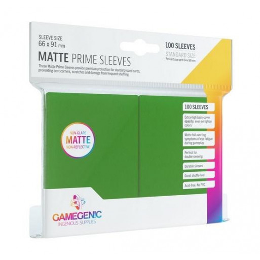 Gamegenic: Matte Prime CCG Sleeves 66x91mm Green