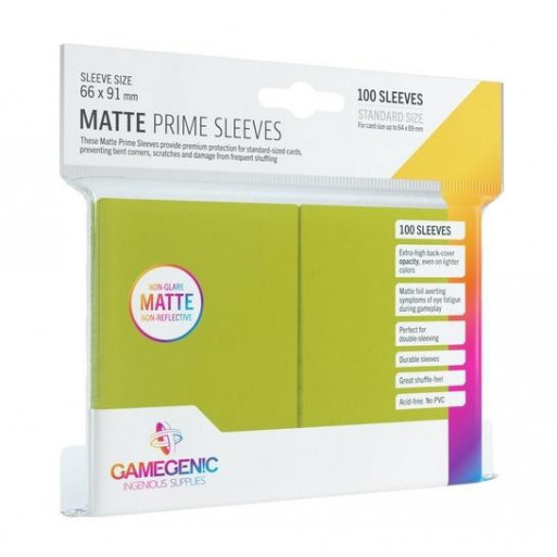 Gamegenic: Matte Prime CCG Sleeves 66x91mm Lime