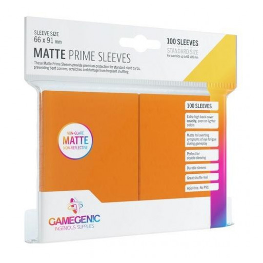 Gamegenic: Matte Prime CCG Sleeves 66x91mm Orange
