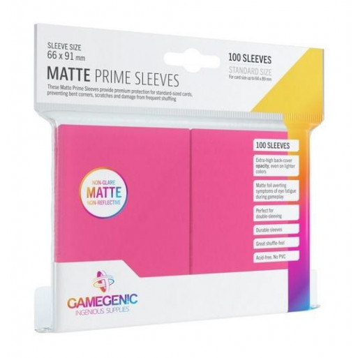 Gamegenic: Matte Prime CCG Sleeves 66x91mm Pink