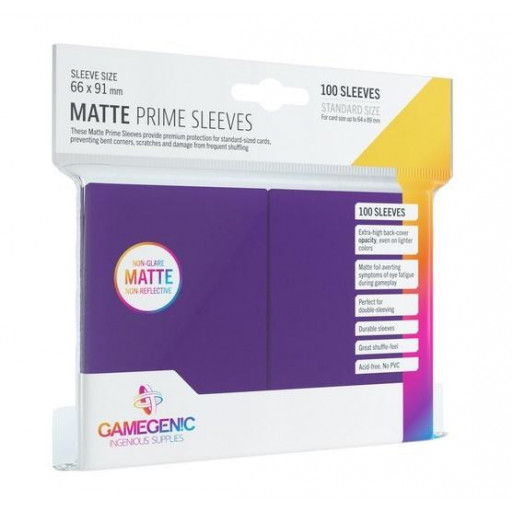 Gamegenic: Matte Prime CCG Sleeves 66x91mm Purple