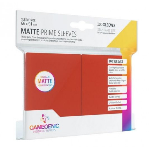 Gamegenic: Matte Prime CCG Sleeves 66x91mm Red