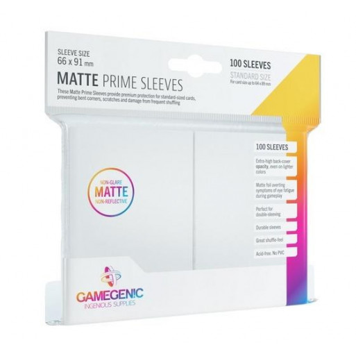 Gamegenic: Matte Prime CCG Sleeves 66x91mm White