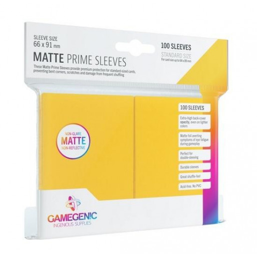 Gamegenic: Matte Prime CCG Sleeves 66x91mm Yellow