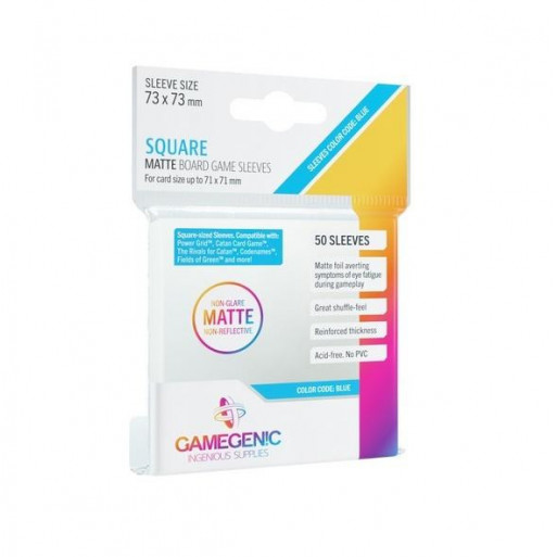 Gamegenic: Matte Square-Sized Sleeves 73x73mm