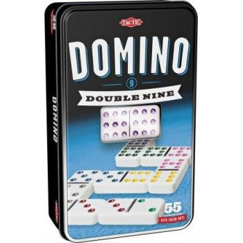 Domino dziewiątkowe w puszce