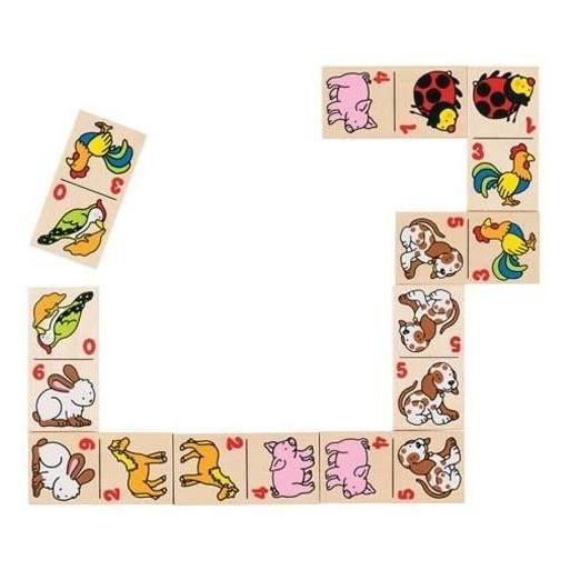 Domino drewniane - Zwierzątka