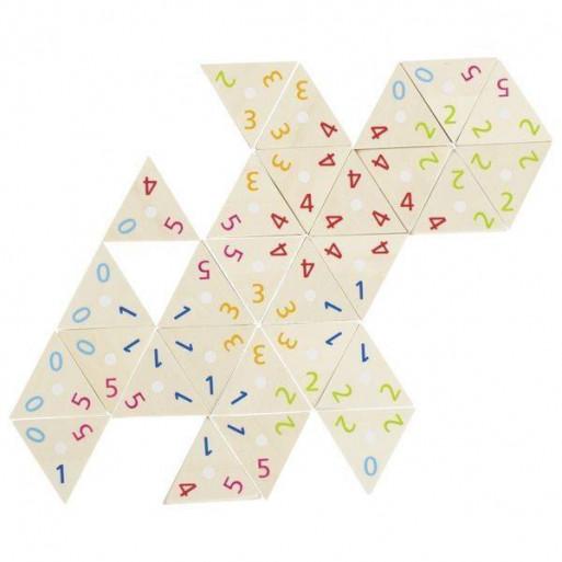 Drewniane Domino trójkąty matematyczne