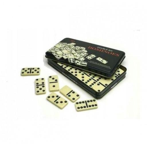 Domino 28szt metalowa puszka