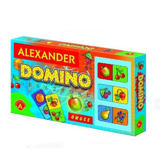 Domino obrazkowe - owoce ALEX