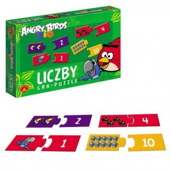 Gra Edukacyjna Angry Birds Rio. Gra puzzle - Liczby ALEX