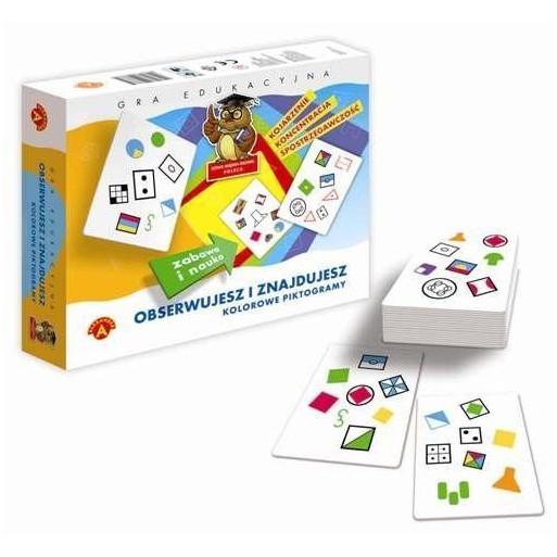 Gra Edukacyjna Obserw. i znajduje. Kolorowe piktogramy ALEX