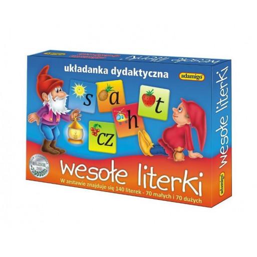 Gra Edukacyjna Układanka - Wesołe literki