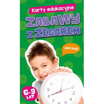 Gra Edukacyjna Karty edukacyjne. Zabawy z zegarem