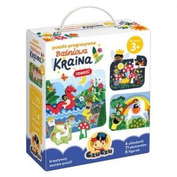 Gra Edukacyjna Puzzle progresywne Baśniowa Kraina